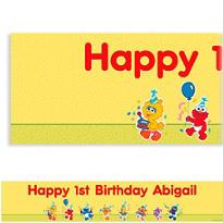 Sesame Street 1st Birthday Custom Banner 6ft