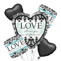 Foil Always & Forever Wedding Balloon Bouquet 5pc