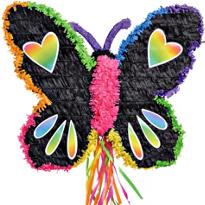 Pull String Neon Butterfly Pinata