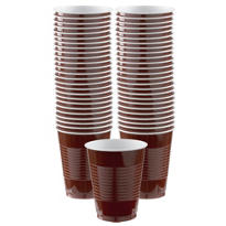 Chocolate Brown Plastic Cups 16oz 50ct