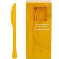 Sunshine Yellow Premium Plastic Knives 100ct