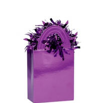 Purple Mini Tote Balloon Weight 5.7oz
