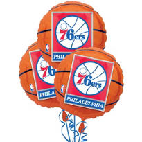 Philadelphia 76ers Balloons 3ct