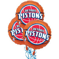 Detroit Pistons Balloons 18in 3ct