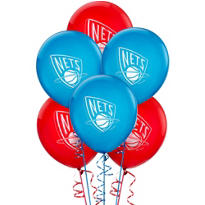 New Jersey Nets Latex Balloon 12in 6ct