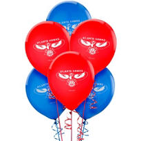 Atlanta Hawks Latex Balloon 12in 6ct