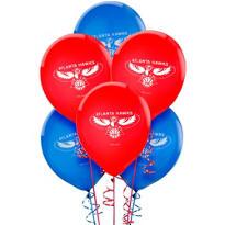 Atlanta Hawks Latex Balloon 12in 6ct