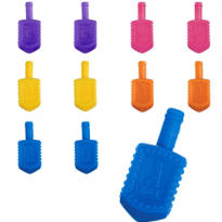 Plastic Dreidels 1 1/4in 72ct