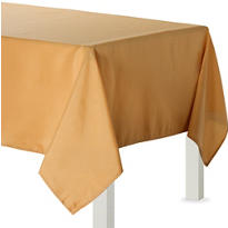 Gold Fabric Tablecloth 84in