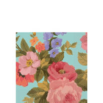 Asian Floral Beverage Napkins 16ct