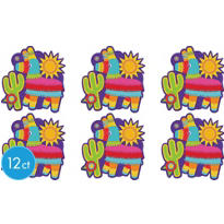 Fiesta Pinata Cutouts 10 1/2in 12ct