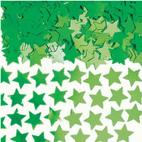 Mini Festive Green Star Confetti 0.25oz
