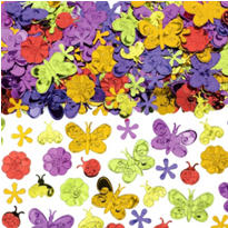 Butterflies and Flowers Confetti 2 1/2oz