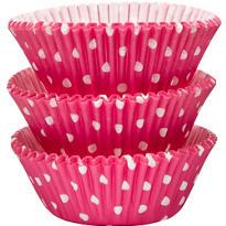 Pink Polka Dot Baking Cups 75ct