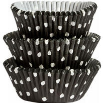 Black Polka Dots Baking Cups 75ct