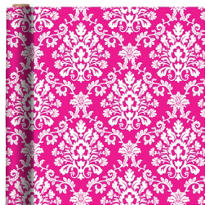 Jumbo Bright Pink Brocade Gift Wrap