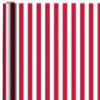 Jumbo Apple Red Striped Gift Wrap