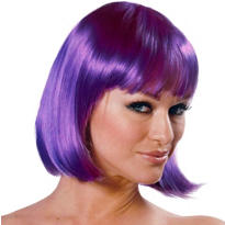 Charm Purple Premium Wig