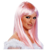 Eden Premium Shoulder-Length Pink Wig