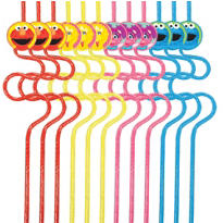 Sesame Street 1st Birthday Straws 12ct