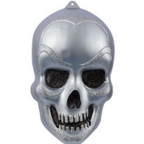 Vacuform Glitter Skull Decoration 21in