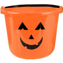 Pumpkin Treat Bucket 8in