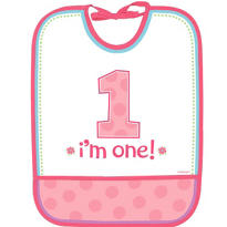 Pink Sweet Little Cupcake 1st Birthday Bib