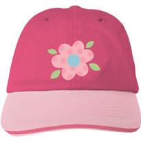 Pink Flower Baseball Hat