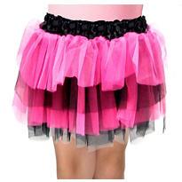Girls Fuchsia and Black Tulle Skirt