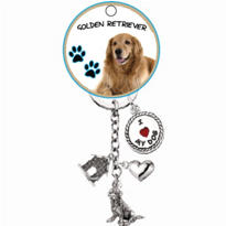 Golden Retriever Keychain