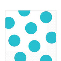 Caribbean Polka Dots Lunch Napkins 16ct
