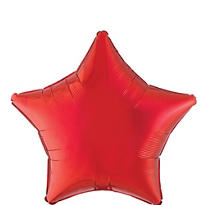Foil Red Star Balloon 19in
