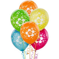 Flower Birthday Balloons 20ct - Bright