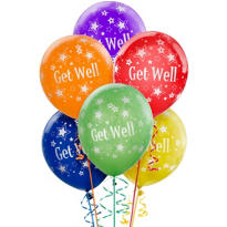 Get Well Balloons 6ct