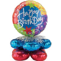 Happy Birthday Mini Balloon Column