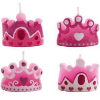 Princess Tiara Candles 4ct