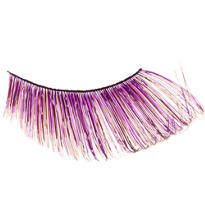 Curled Purple False Eyelashes