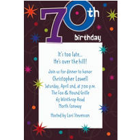The Party Continues 70 Custom Invitation