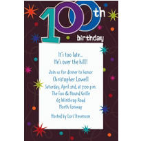 The Party Continues 100 Custom Invitation