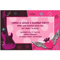 Rocker Girl Custom Invitation