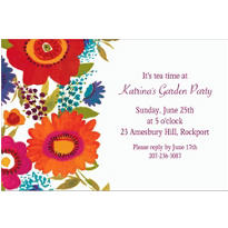 Floral Splash Custom Invitation