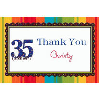 A Year to Celebrate 35 Custom Thank You Note