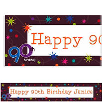 The Party Continues 90 Custom Banner 6ft