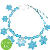Light-Up Snowflake Bracelet 7in