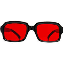 Old School Rapper Christmas Sunglasses 5 1/2in