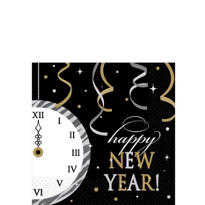Happy New Year Eco-Friendly Beverage Napkins 16ct