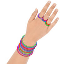 Rainbow Stretch Bracelet and Ring Set