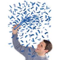 Blue Flutter Confetti Wands 6ct