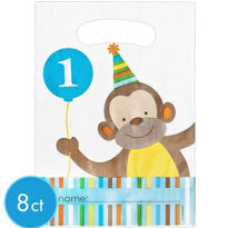 Sweet At One Boys 1st Birthday Favor Bags 8ct