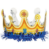 Blue Fringe Crown